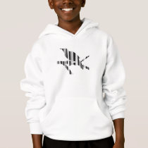 MOCKINGBIRD BAR CODE Bird Barcode Pattern Design Hoodie