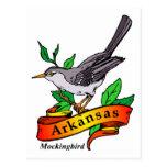 mockingbird de Arkansas Tarjetas Postales
