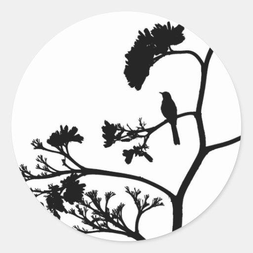 mockingbird in maguey bloom sticker