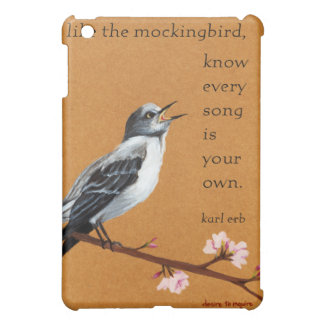 """Mockingbird: iPad """"Know Every Song is Your Own."""" iPad Mini Case"""