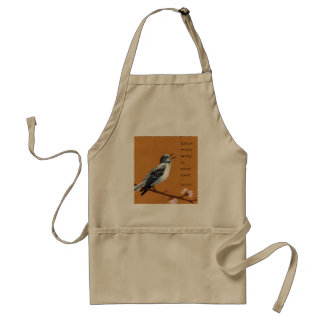 "Mockingbird: ""know every song is your own."" apron"