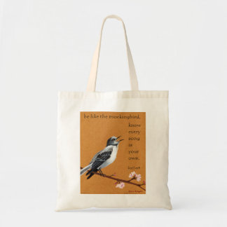 """Mockingbird """"Know every song is your own."""" tote Canvas Bag"""