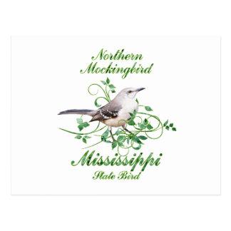 Mockingbird Mississippi State Bird Postcard