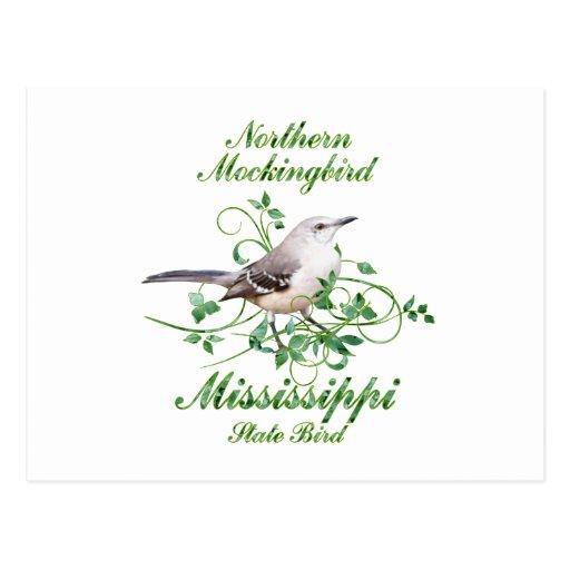 Mockingbird Mississippi State Bird Post Cards