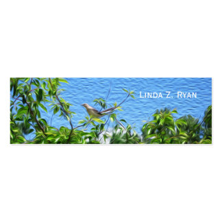 Mockingbird on a Limb Double-Sided Mini Business Cards (Pack Of 20)