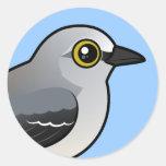 Mockingbird septentrional de Birdorable Pegatina Redonda