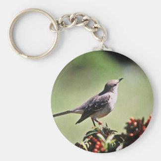 Mockingbird septentrional llavero personalizado