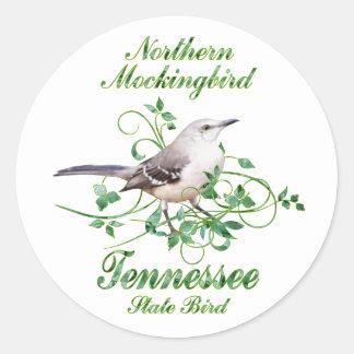 Mockingbird Tennessee State Bird Classic Round Sticker