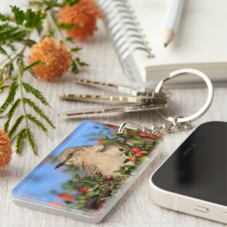 Mockingbird & Yaupon Berries Keychain