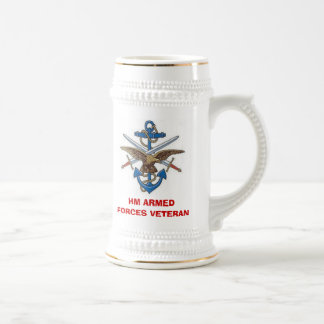 MOD10, HM ARMED FORCES VETERAN BEER STEIN