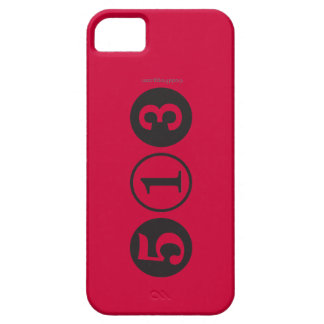 Mod 513 Area Code iPhone 5 Case (Red)