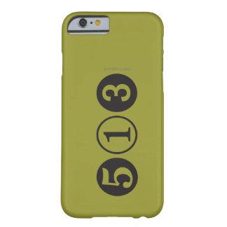 MOD 513 caso del iPhone 6 del código de área Funda De iPhone 6 Barely There