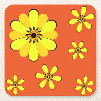 MOD 60's Flower Power Coaster