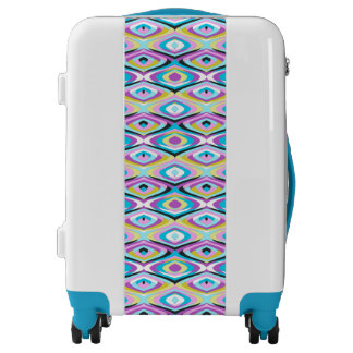 Mod 60s inspired cats eye pattern luggage