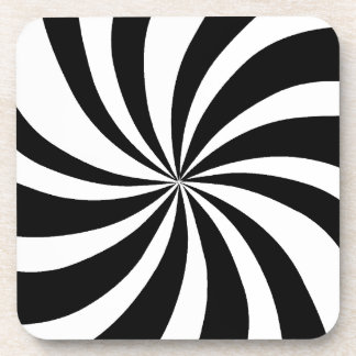 MOD 60's Pop Art Black & White Coaster