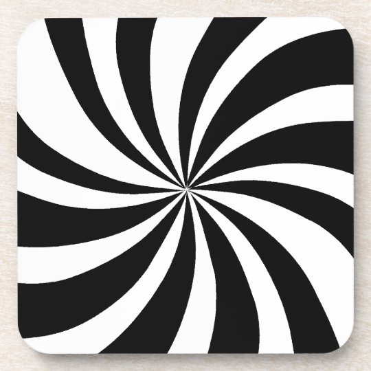 Mod 60s pop art black white coaster