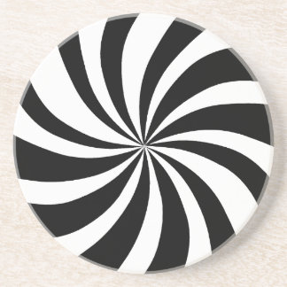 MOD 60's Pop Art Black & White Coaster