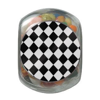 MOD a cuadros negra que compite con el modelo Frascos De Cristal