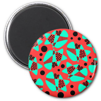 Mod Abstract 2 Inch Round Magnet