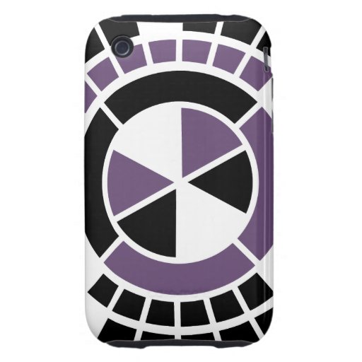 Mod Abstract Amerthyst Black White color circle Tough iPhone 3 Case