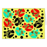 Mod Abstract Greeting Cards