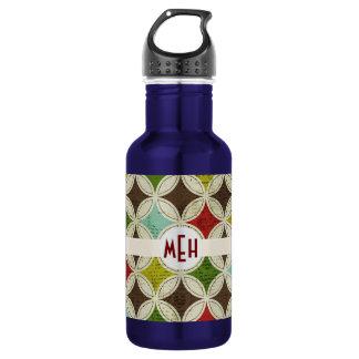 Mod Abstract Monogram Aluminum Water Bottle