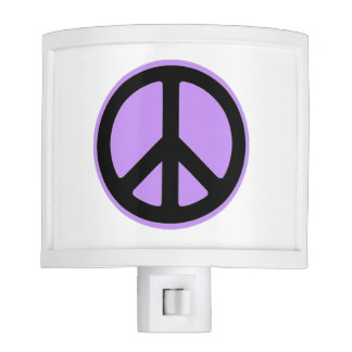 """""""Mod Accent"""" PEACE-anywhere-Lavender Night Light"""