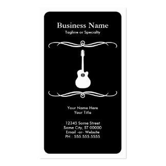 mod acoustic guitar business cards
