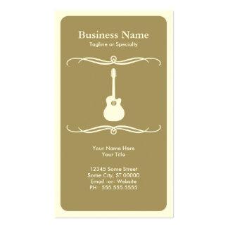 mod acoustic guitar business card