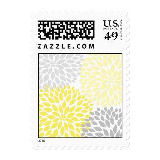 MOD amarilla y dalia gris nupcial o fiesta de Timbres Postales