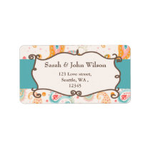 mod aqua,blue, return address label