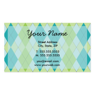 Mod Argyle Profile Cards Double-Sided Standard Business Cards (Pack Of 100)