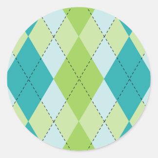 Mod Argyle Stickers
