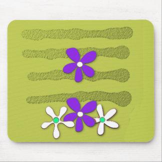MOD-ART-DESIGN_Flower's-Grape-Olive Mouse Pad