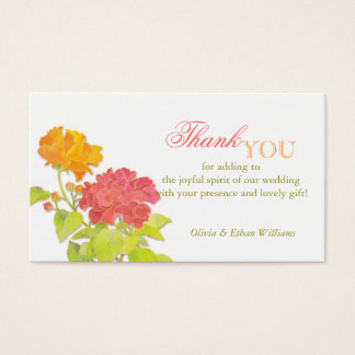 Mod Asian Peonies Wedding Thank You Favor Tags