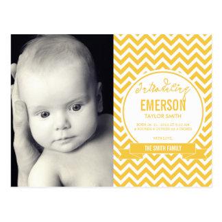 Mod Baby Birth Announcement - Sunshine Post Card