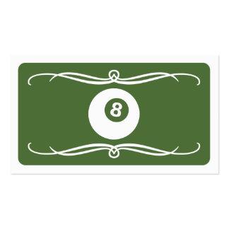 mod billiard (color customizable) business cards