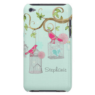 Mod Bird Cage Mason Jar Floral Swirl Tree Branch iPod Touch Cover