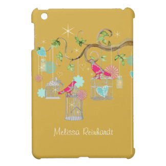 Mod Bird Cage Mason Jar Heart Floral Bridal Shower Case For The iPad Mini