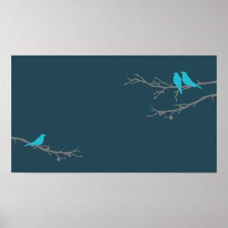 mod birds print