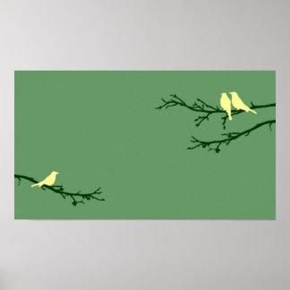 mod birds poster