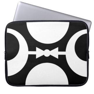 Mod Black and White Laptop Sleeve