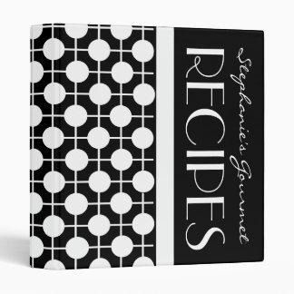 Mod Black and White Polka Dot Recipe Binder