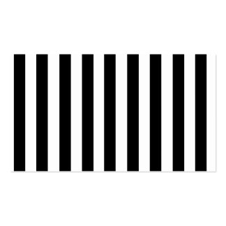 Mod Black and White Stripes Pattern Business Card