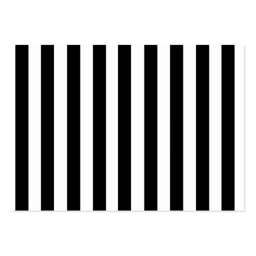 Mod Black and White Stripes Pattern Business Cards