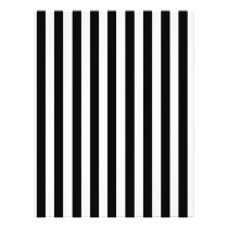 Mod Black and White Stripes Pattern Flyer