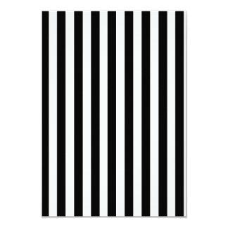 Mod Black and White Stripes Pattern 3.5x5 Paper Invitation Card