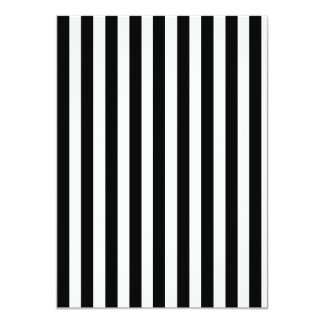 Mod Black and White Stripes Pattern 4.5x6.25 Paper Invitation Card
