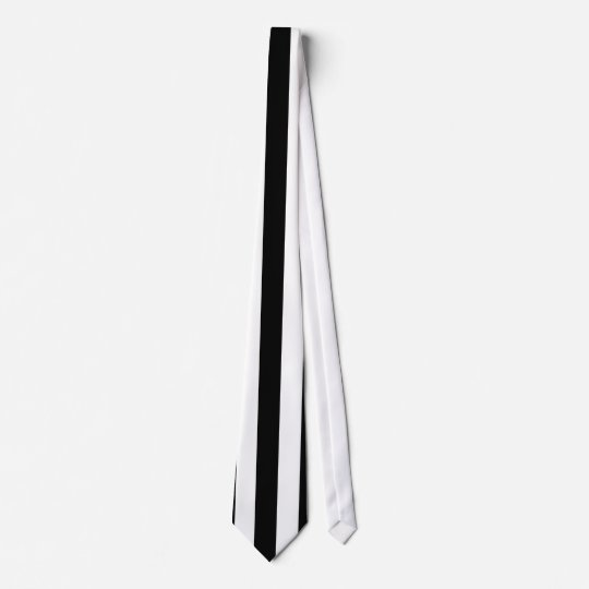 Mod Black and White Stripes Pattern Neck Tie