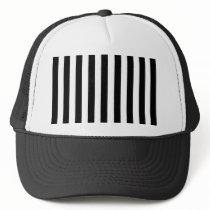 Mod Black and White Stripes Pattern Trucker Hat